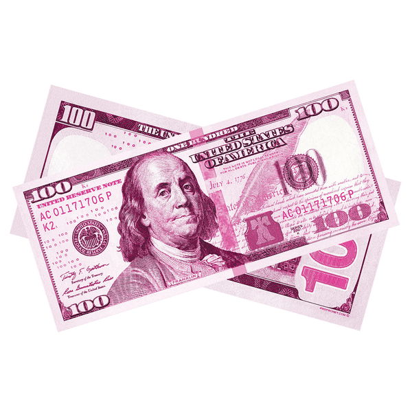 $100 New Series Pink Bills - PropMoney.com