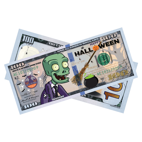 Happy Halloween Frankie Kids Play Money Bills - PropMoney.com