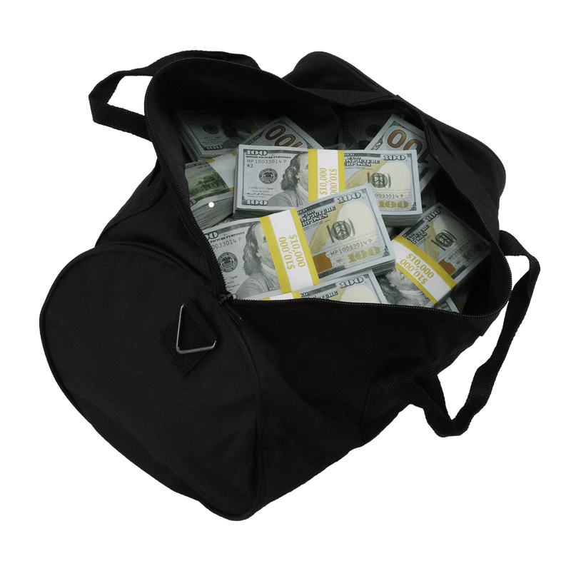 $500,000 New Series Full Print Aged Stacks Duffle Bag - PropMoney.com