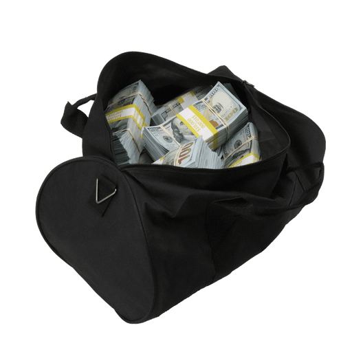 $510,000 New Series Full Print Aged Bundles Duffle Bag - PropMoney.com