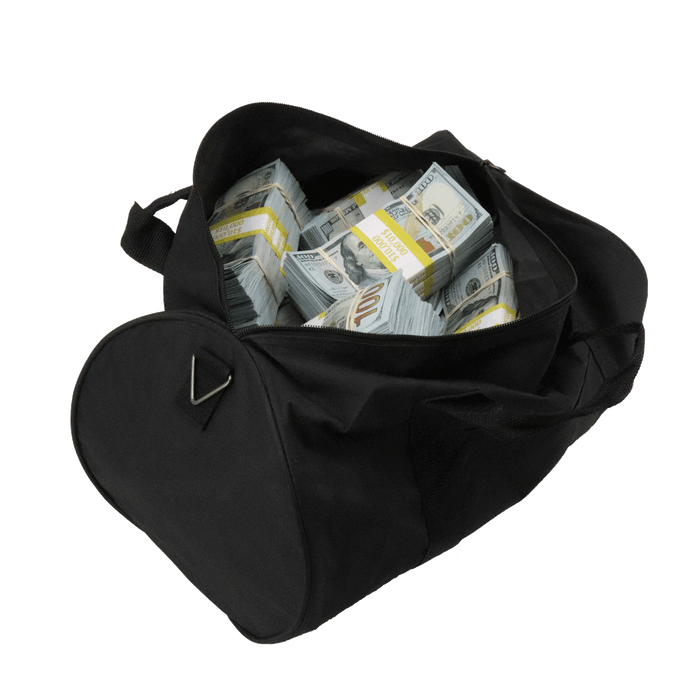 $510,000 New Series Blank Filler Aged Bundles Duffle Bag - PropMoney.com