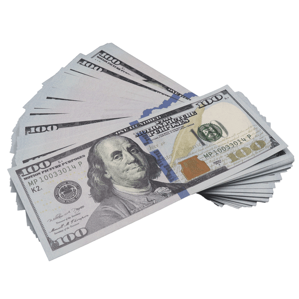 100x $100 Bills - $10,000 New Series Prop Money - PropMoney.com