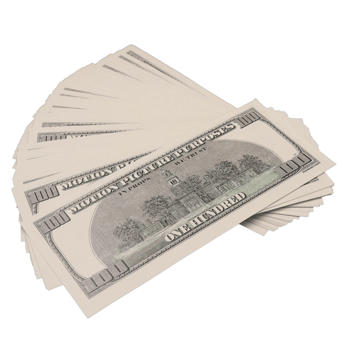 100x $100 Bills - $10,000 2000s Series Prop Money - PropMoney.com