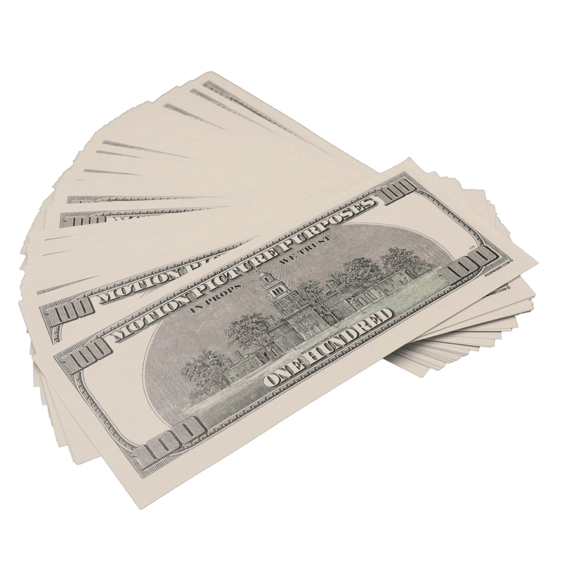 50x $100 Bills - $5,000 - 2000s Series Full Print Prop Money - PropMoney.com