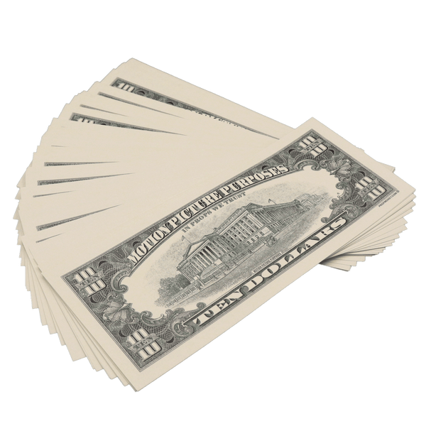 25x $10 Bills - $250 - 1990s Series Full Print Prop Money - PropMoney.com