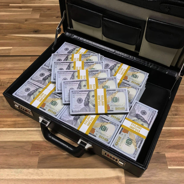 $500,000 New Series Blank Filler Stacks Briefcase - PropMoney.com