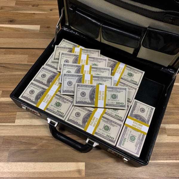 $500,000 2000 Series Full Print Stacks Briefcase - PropMoney.com