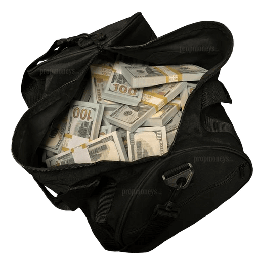 $500,000 New Series Full Print Stacks Duffle Bag - PropMoney.com