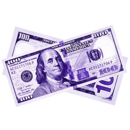 $100 New Series Purple Bills - PropMoney.com