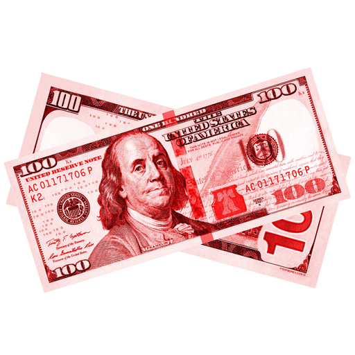 $100 New Series Red Bills - PropMoney.com