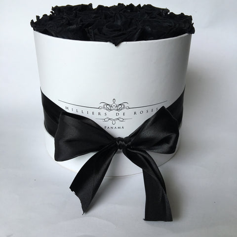 Milliers Small Round Box - White - Black PRESERVADAS