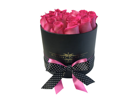 Milliers Small Round Box - Black - Pink