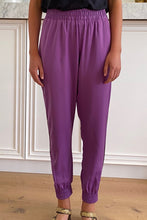 Luxe Silky Feel Jogger (with soft gold piping) - AMETHYST