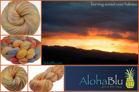 AlohaBlu - Burning Sunset over Haleiwa