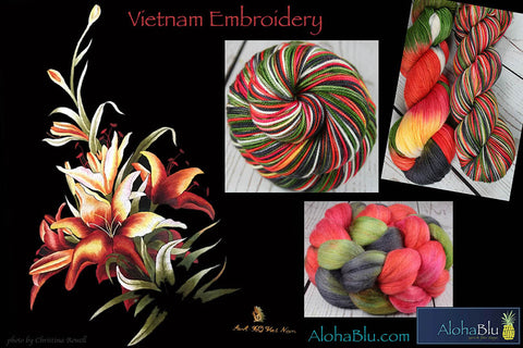 Vietnam Embroidery colorway by AlohaBlu