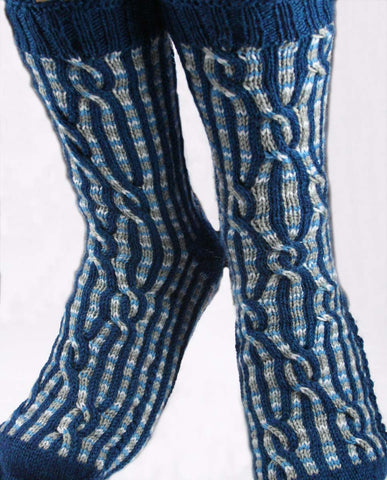 KNITTING PATTERN for Desiree Diamond Socks - Charted Colorwork Sock pattern - digital download