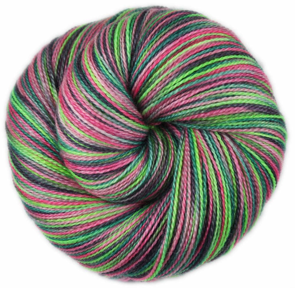 AHI POKE: Superfine Merino Silk - Lace Weight Yarn - 875 yards - Hand dyed - Indie dyed variegated lace yarn