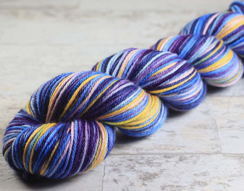 I WAS AN INTERN ON FRIENDS: Self-Striping Pima Cotton - DK Weight - Hand dyed yarn
