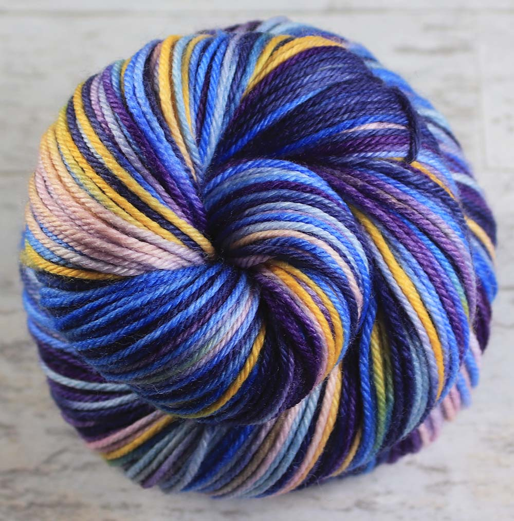 ALL THE WORLDS OCEANS: SW Merino-Nylon - DK Weight - Hand dyed variegated yarn