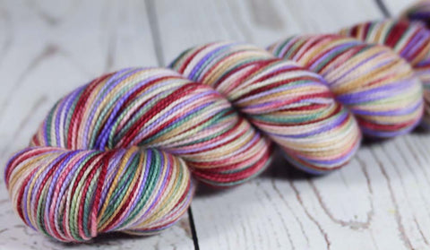 SUNSET SEA ALASKA: SW Merino-Cashmere-Nylon Sock Yarn - Hand dyed Variegated yarn