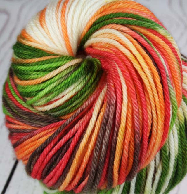 AVOCADO CHEESECAKE: Superwash Merino - Worsted weight yarn - Hand dyed - Variegated worsted yarn - Indie dyed cheesecake inspired yarn