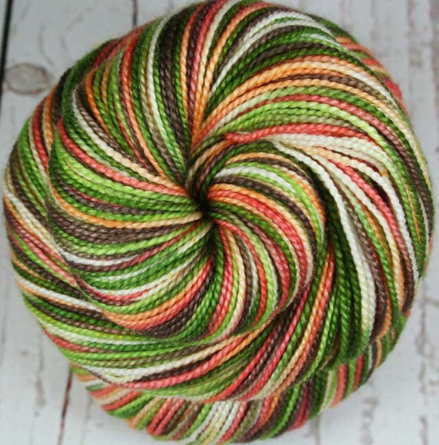AVOCADO CHEESECAKE: Superwash Merino Wool-Silk Fingering/Sock yarn - Hand dyed sock yarn - Variegated yarn - Indie dyed cheesecake inspired sock yarn