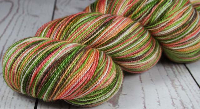 AVOCADO CHEESECAKE: Superfine Merino-Silk lace yarn - Hand dyed Lace Weight Yarn - Variegated yarn - Indie dyed cheesecake inspired yarn