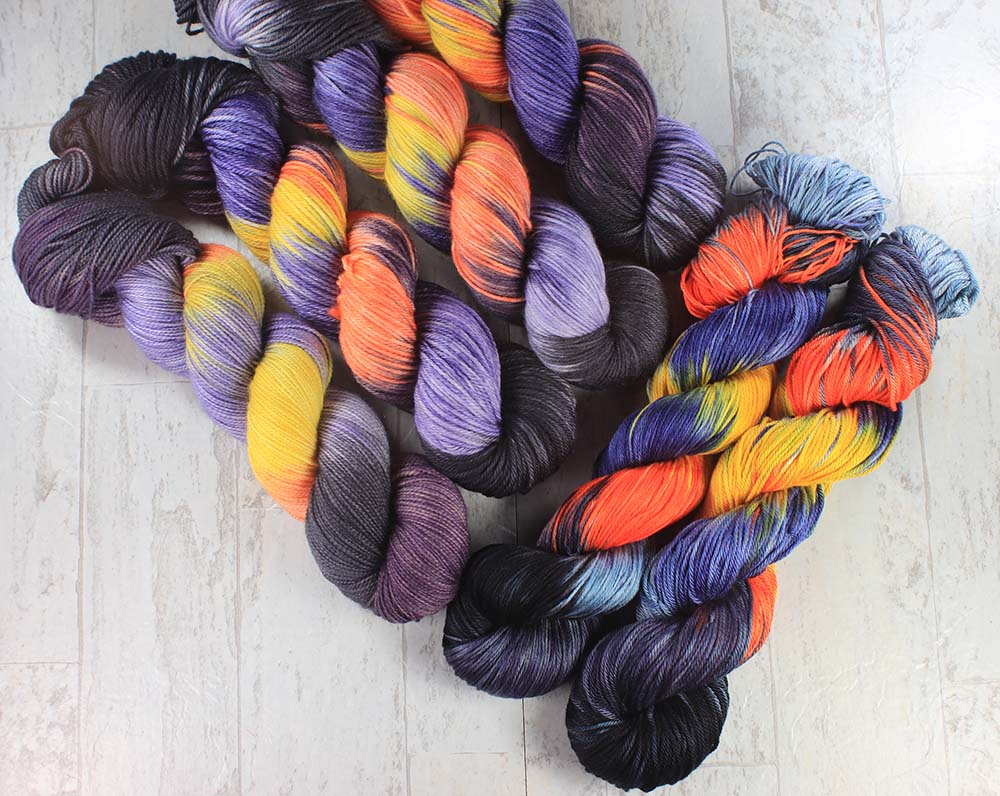 BALI HAI AT DUSK: Pima Cotton - Fingering Weight - Variegated Hand dyed yarn