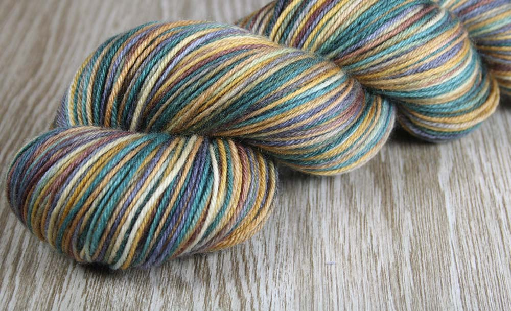 BIG ISLAND VOLCANO: Superwash Merino Wool-Nylon-Cashmere - Fingering / Sock Weight Yarn - Hand dyed Indie sock yarn