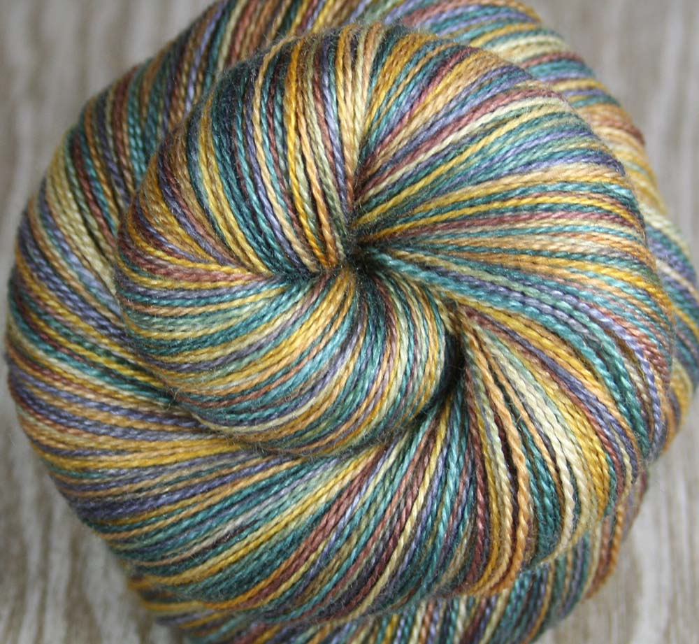 BIG ISLAND VOLCANO: Superfine Merino Silk - Lace Weight Yarn - 875 yards - Hand dyed - Indie dyed variegated yarn