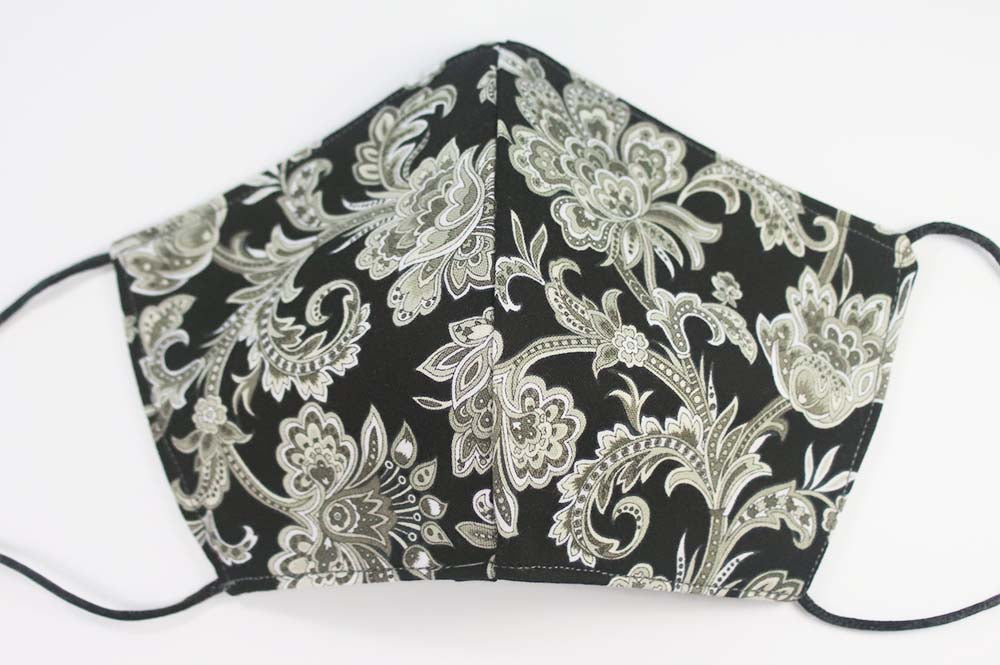 MASK: Jacobean in Black #5 - Medium