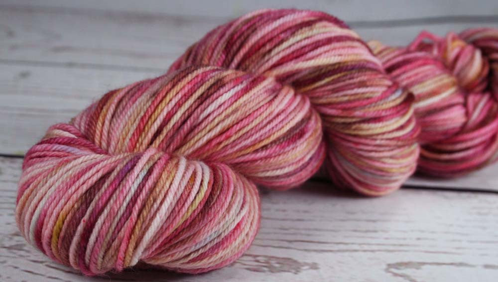 BOX of CHOCOLATES: Superwash Merino-Nylon - DK weight yarn - Hand dyed - Indie dyed - Variegated yarn - Valentine's Day - Pink candy yarn