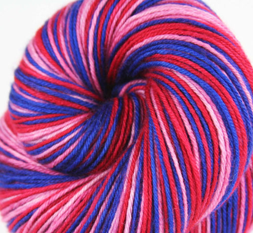 BERRY PIE OOAK: Superwash Merino Wool-Nylon-Cashmere - Self-Striping sock yarn - Hand dyed sock yarn