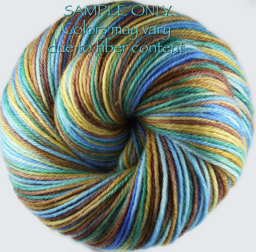 "Dyed to Order: ""CADILLAC MOUNTAIN VIEW"" colorway - Sock yarn -  Hand dyed Variegated yarn"