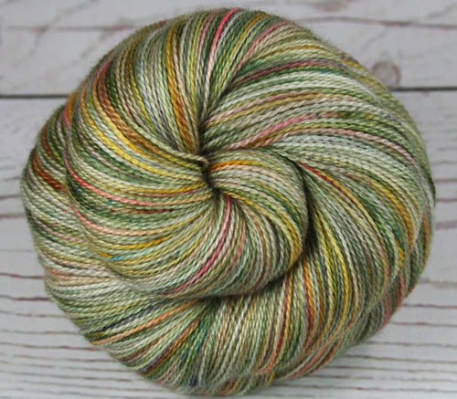 CHINESE GARDEN: Superfine Merino-Silk lace yarn - Hand dyed Lace Weight Yarn - Indie dyed - Variegated yarn