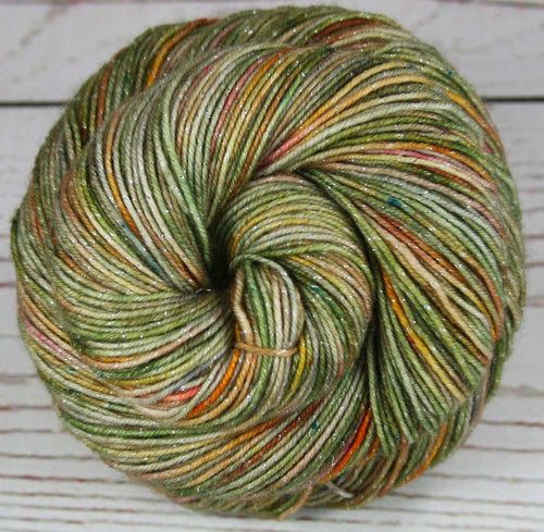 CHINESE GARDEN: Superwash Merino Wool-Lurex Sparkle - Fingering / Sock Weight Yarn - Hand dyed - Indie dyed Sparkle yarn - Variegated yarn