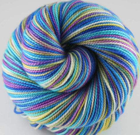 VINTAGE CHRISTMAS: Superwash Merino Wool-Nylon - Hand dyed sock yarn - Self-striping sock yarn - Holiday yarn - Tight Twist yarn