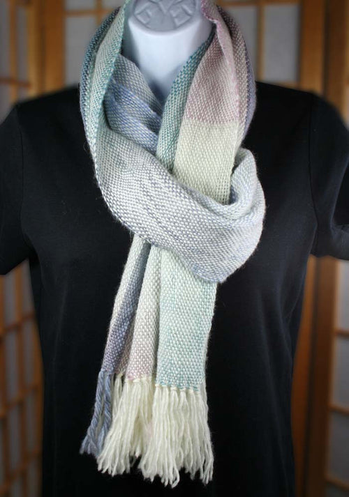 CHROMA COLOR SCARF: Superwash Merino Wool-Nylon - Handwoven Scarf - Handmade scarf