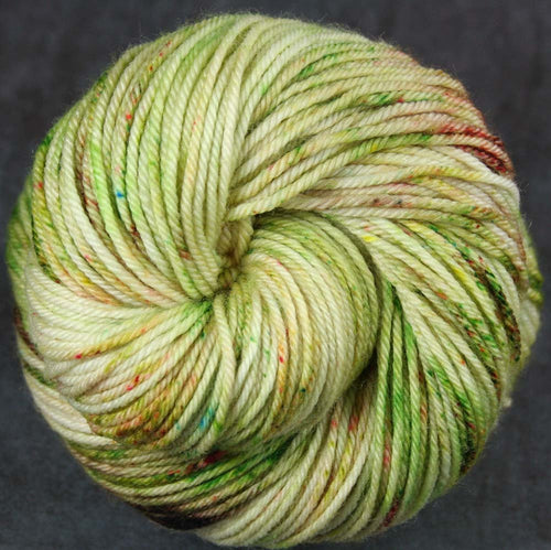 COCONUT LIME: Superwash Merino-Nylon - DK weight yarn - Hand dyed - Speckled - Variegated yarn