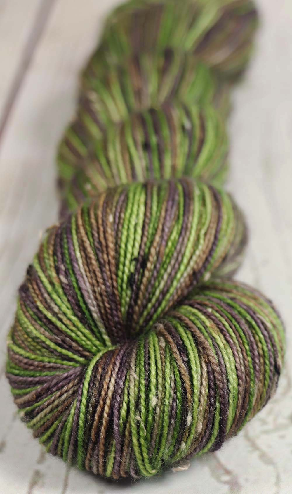COFFEE BEANS & TEA LEAVES: SW Merino Tweed - Hand dyed Variegated sock yarn
