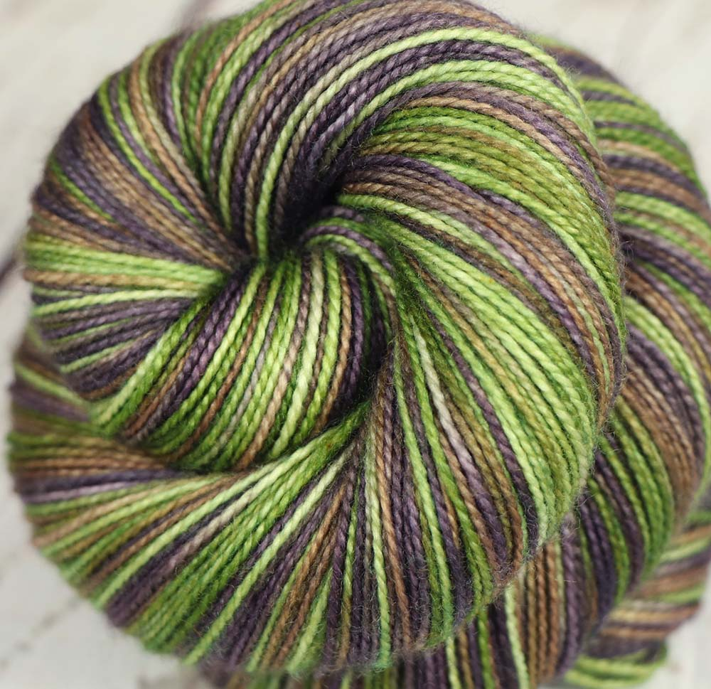 COFFEE BEANS & TEA LEAVES: SW Merino-Nylon - Hand dyed Variegated sock yarn - Kauai base