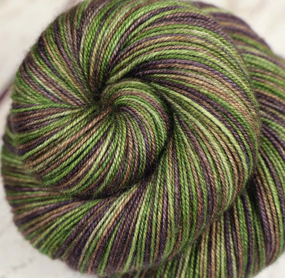 COFFEE BEANS & TEA LEAVES: SW Merino-Yak-Nylon Sock yarn - Hand dyed Variegated yarn