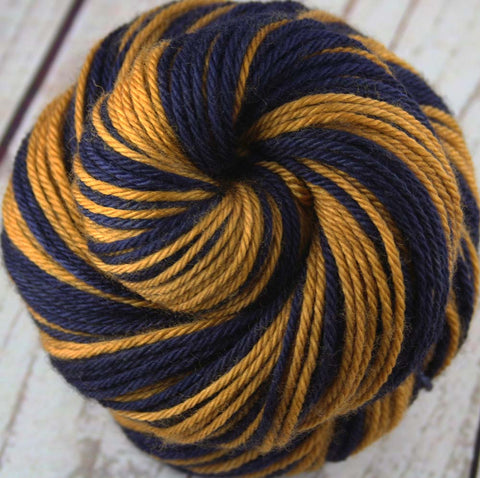 Dyed-to-Order: WW Wrap Yarn Kit / Sock Kit - 1 skein in COURAGE RED, 1 skein in WARRIOR GOLD