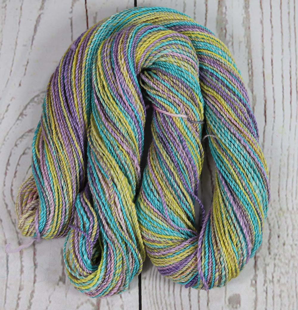 EASTER EGGS - Hand dyed, hand spun lace yarn