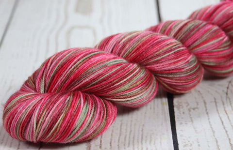 SUNSET SEA ALASKA: SW Merino-Nylon - DK Weight Hand dyed variegated yarn