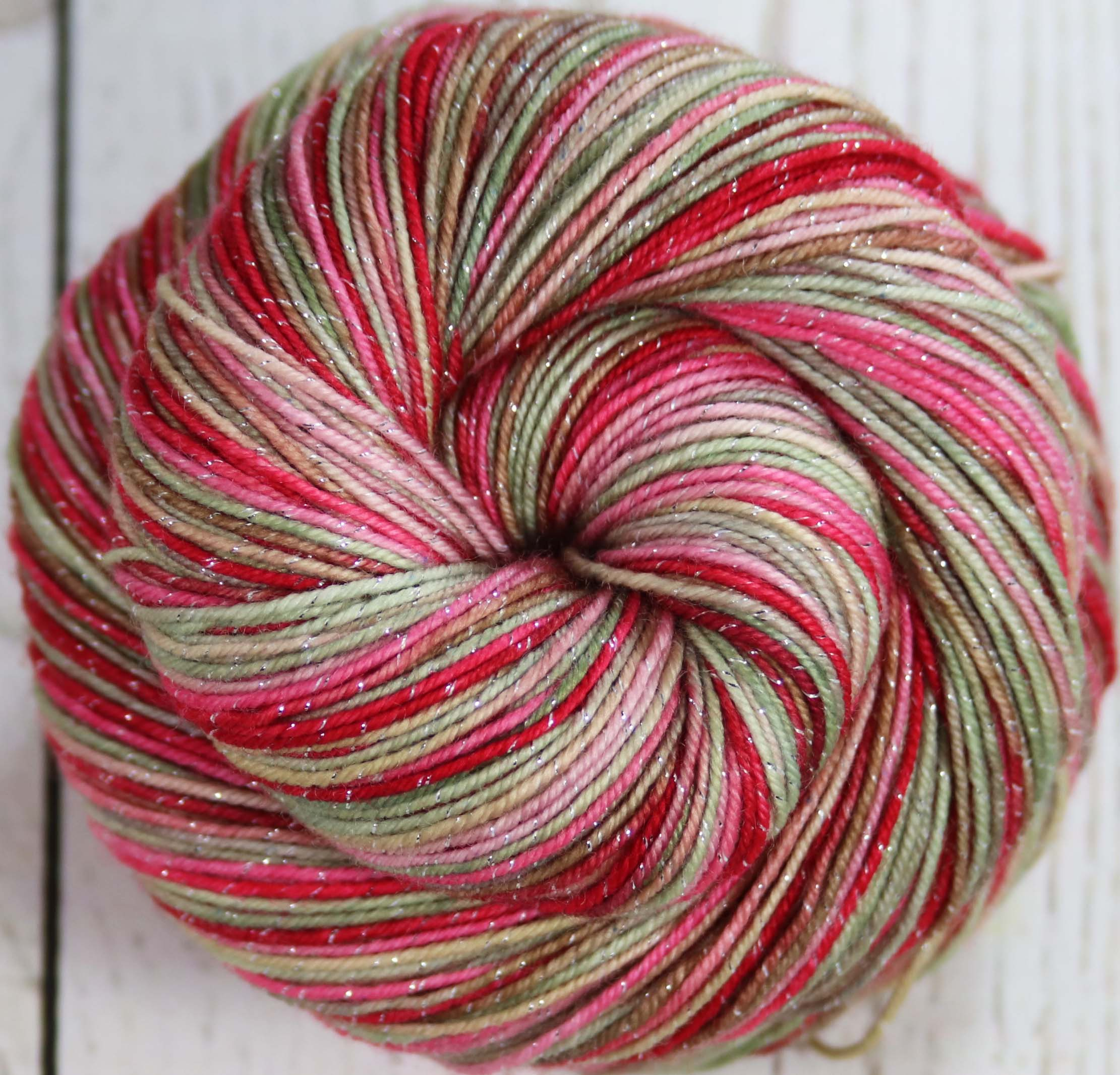 ELEGANT PANEL : SW Merino-Lurex Sock Yarn - Hand dyed variegated sock yarn - Masters Collection