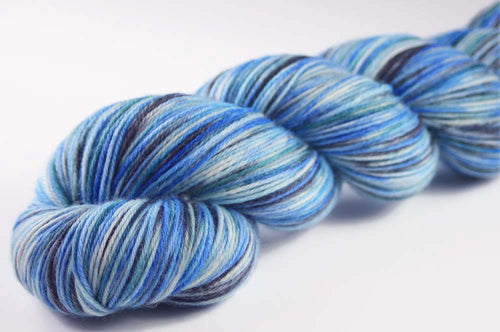 EVENING AT NANOOSE BAY: SW Merino-Nylon-Cashmere - Hand dyed variegated sock yarn