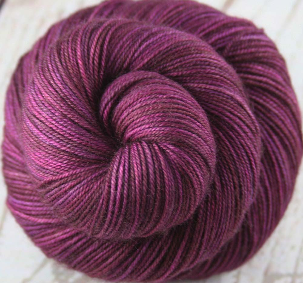 FERROAXINITE MINERAL: Superwash Merino Wool-Yak-Nylon - Hand dyed sock yarn - Tonal sock yarn