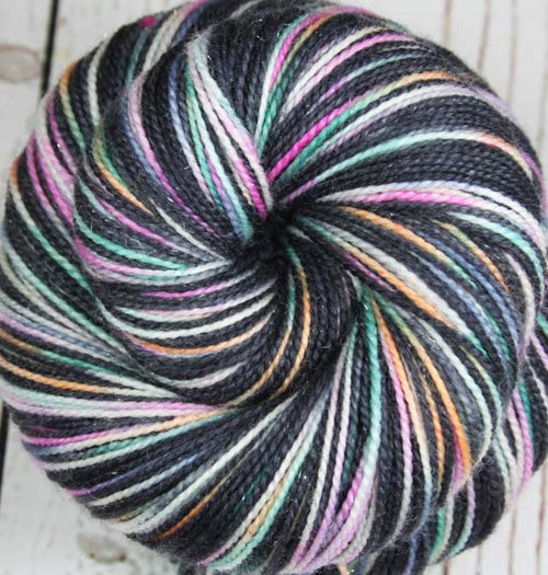 FILMSTRIPS: Superwash Merino Wool-Nylon-Stellina - Hand dyed Sparkle sock yarn - Variegated sock yarn