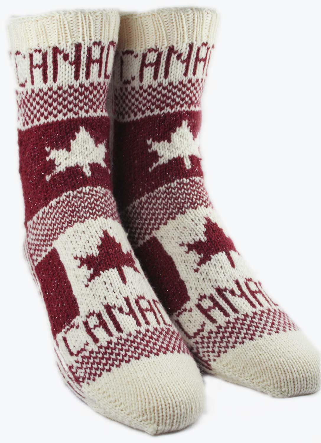 KNITTING PATTERN for Flag Socks: Canada - Charted Colorwork Sock ...